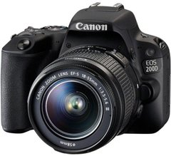 Зеркальный фотоаппарат Canon EOS 200D II kit (18-55mm) EF-S IS STM black
