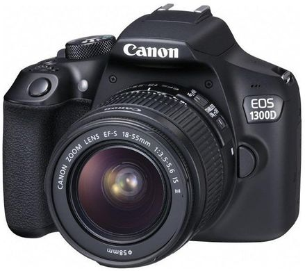 Зеркальный фотоаппарат Canon EOS 1300D kit (18-55mm) EF-S IS II